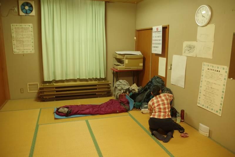 避難先の和室